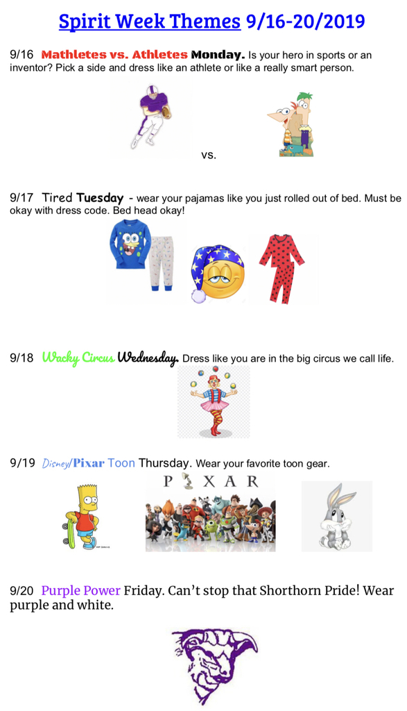 Shorthorn spirit days